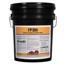 FP300 Acrylic Black Fence & Barn Paint - 5 Gallon