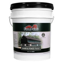 Green - Premium One Coat 100% Acrylic Barn & Fence Paint - 5 Gallon
