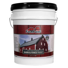 Red - Premium One Coat 100% Acrylic Barn & Fence Paint - 5 Gallon