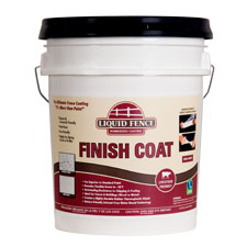 Liquid Fence Rubberized Coating - Finish Coat - White - 5 Gallon